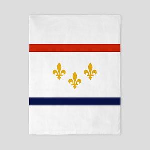 New Orleans Flag Twin Duvet Cover