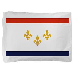 New Orleans Flag Pillow Sham