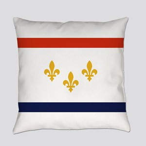 New Orleans Flag Everyday Pillow
