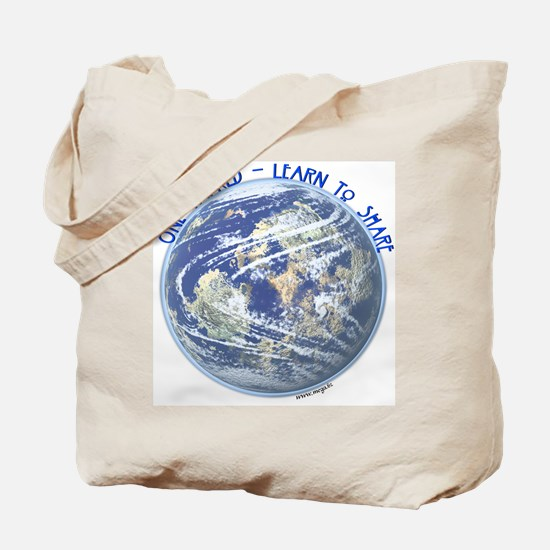 One World - Learn to Share Tote Bag