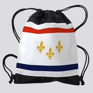 New Orleans Flag Drawstring Bag