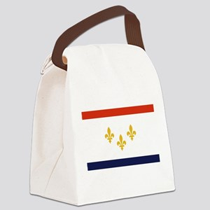 New Orleans Flag Canvas Lunch Bag