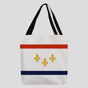 New Orleans Flag Polyester Tote Bag