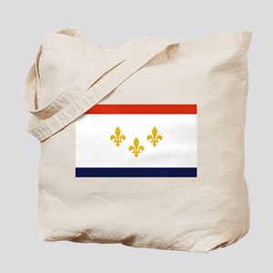 New Orleans Flag Tote Bag