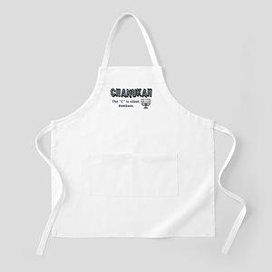 Chanukah The C Is Silent BBQ Apron