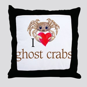 I heart ghost crabs Throw Pillow