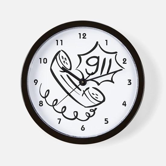 911 Operator Wall Clock