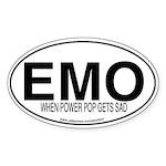 EMO Oval Sticker