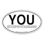 YOU Oval Sticker