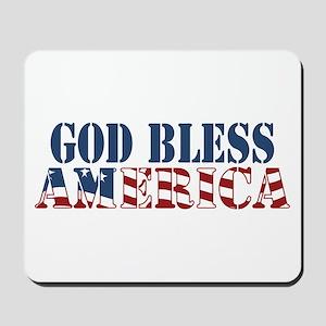 God Bless America Mousepad