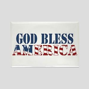 God Bless America Rectangle Magnet