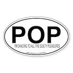 POP Oval Sticker