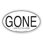 GONE Oval Sticker