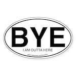 BYE Oval Sticker