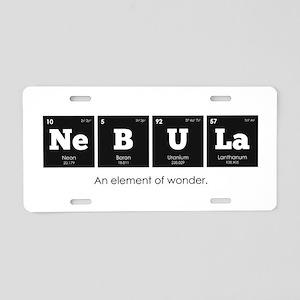 Periodic Elements: NeBULa Aluminum License Plate