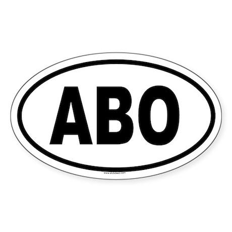 ABO Oval Sticker