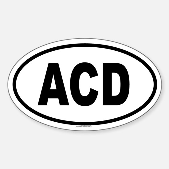 ACD Oval Decal
