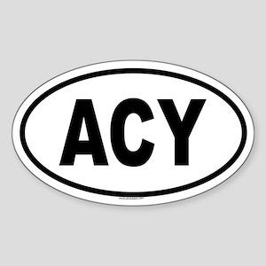 ACY Oval Sticker