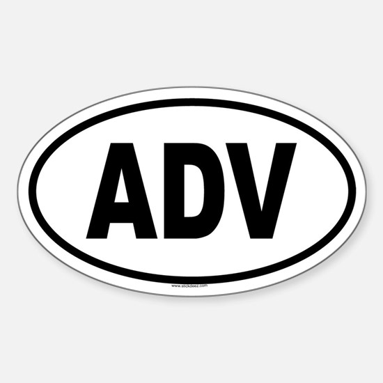 ADV Oval Decal
