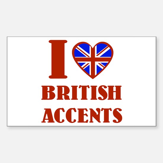 British Accents Decal