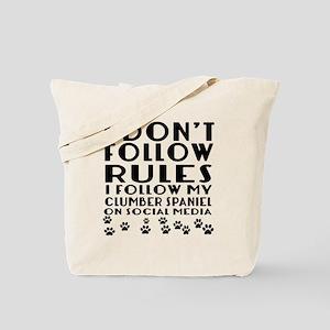 I Follow My Clumber Spaniel Dog Tote Bag