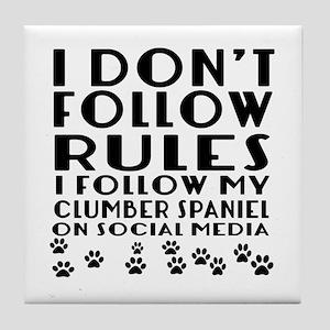 I Follow My Clumber Spaniel Dog Tile Coaster