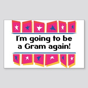 I'm Going to be a Gram Again! Sticker (Rectangular