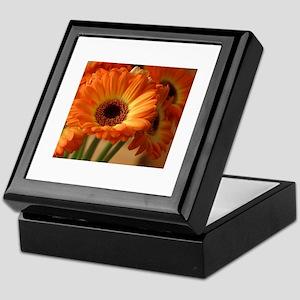 Orange Gerberas Keepsake Box