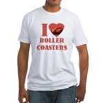 I love Coasters Fitted T-Shirt