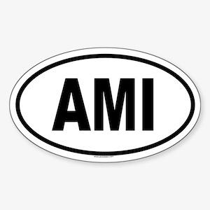 AMI Oval Sticker