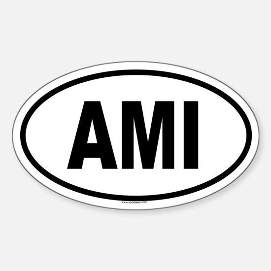 AMI Oval Decal