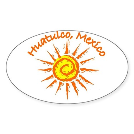 Oval 215058814 CafePress Huatulco Mexico Oval Sticker Sticker