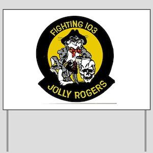 VF 103 Jolly Rogers Yard Sign
