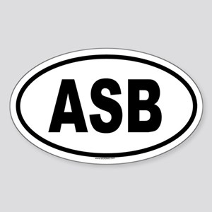 ASB Oval Sticker