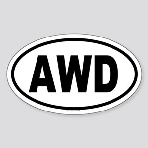 AWD Oval Sticker