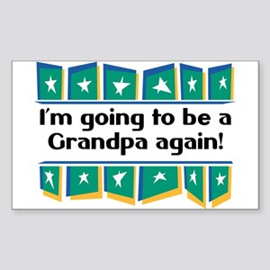 I'm Going to be a Grandpa Again! Sticker (Rectangu