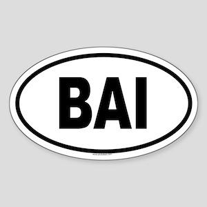 BAI Oval Sticker