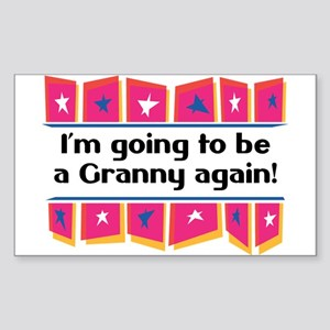 I'm Going to be a Granny Again! Sticker (Rectangul