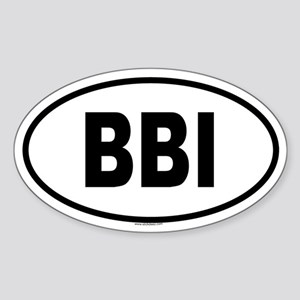 BBI Oval Sticker