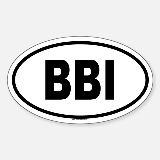 BBI Oval Decal