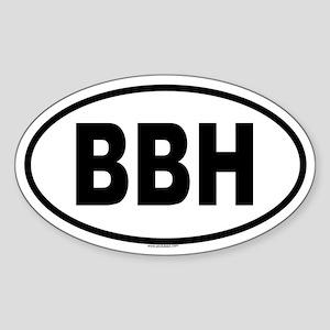 BBH Oval Sticker