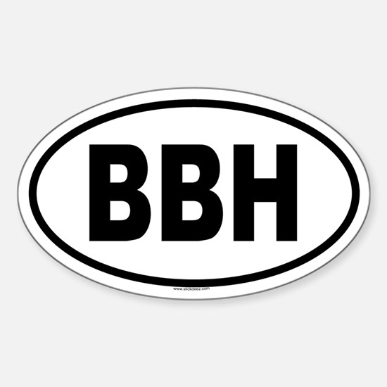 BBH Oval Decal