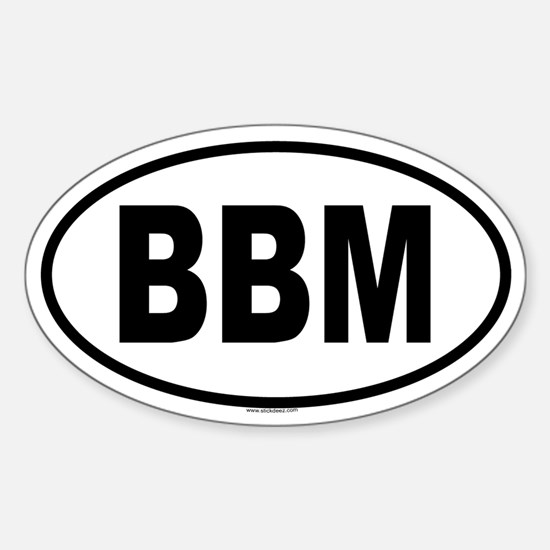 BBM Oval Decal