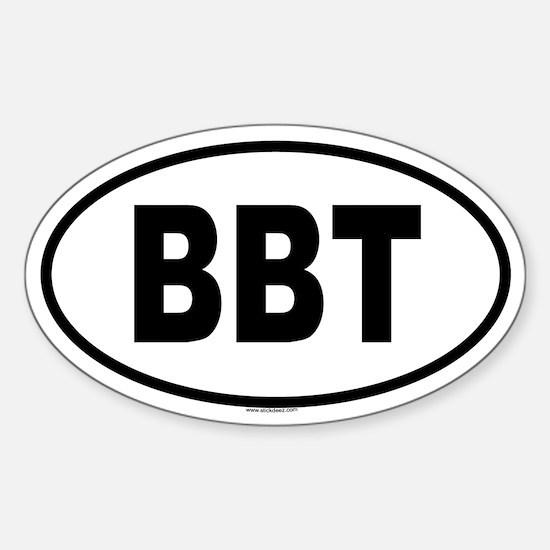 BBT Oval Decal