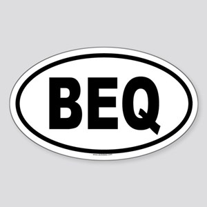 BEQ Oval Sticker