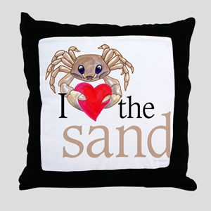 I heart sand Throw Pillow