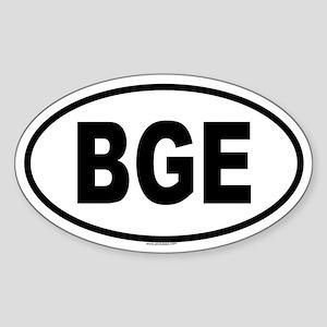 BGE Oval Sticker
