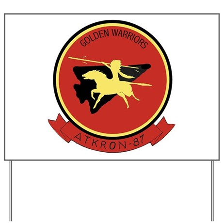 VFA 87 Golden Warriors Yard Sign