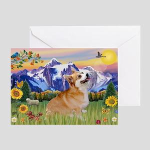 Mt Country / Corgi (p) Greeting Card