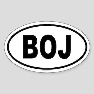 BOJ Oval Sticker